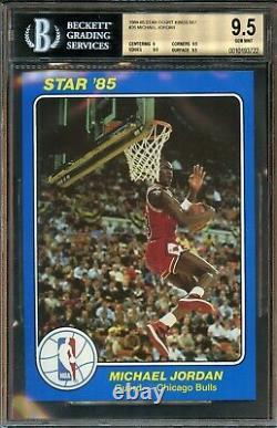 1984 1985 Star Michael Jordan Court Kings #26 BGS 9.5 GEM MINT. True ROOKIE