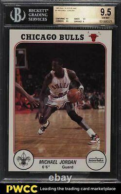 1985 Bulls Interlake Michael Jordan ROOKIE RC #1 BGS 9.5 GEM MINT
