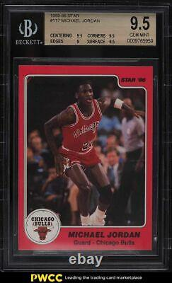 1985 Star Basketball Michael Jordan ROOKIE RC #117 BGS 9.5 GEM MINT