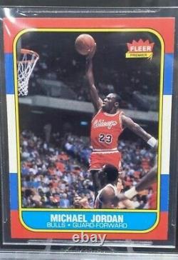 1986-86 Michael Jordan Fleer RC BGS 9 Mint. 5 Away From 9.5 Gem Mint