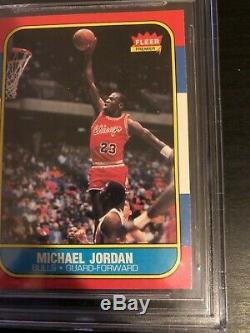 1986-87 Fleer #57 Michael Jordan RC BGS 9.5 GEM MINT QUAD! RARE HOF