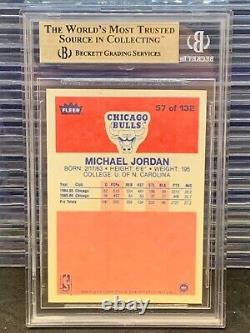 1986-87 Fleer Michael Jordan Rookie Card RC #57 BGS 9.5 GEM MINT Bulls F99