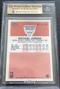 1986 Fleer Basketball Jordan ROOKIE RC #57 BGS 9.5 GEM MINT PRISTINE