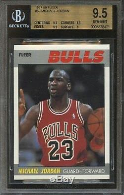 1987 Fleer MICHAEL JORDAN #59 Bulls BGS 9.5 GEM MINT