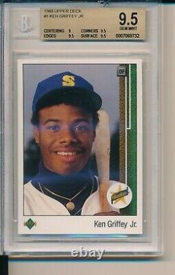 1989 Upper Deck Ken Griffey Jr. Rookie BGS 9.5 x 3 Gem Mint