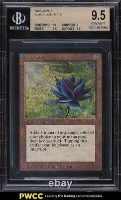 1993 Magic The Gathering MTG Alpha Black Lotus R A BGS 9.5 GEM MINT