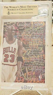 1995-96 Flair Hot Numbers #4 Michael Jordan Bgs Gem Mint 9.5 Rare 3d Insert