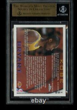 1996-97 Topps Chrome Kobe Bryant Rookie #138 BGS 9.5 Gem Mint RC LA Lakers HOF