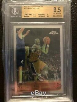1996-97 Topps Chrome Kobe Bryant Rookie Card #138 BGS 9.5 gem mint