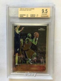 1996-97 Topps Chrome Kobe Bryant Rookie RC BGS 9.5 Gem Mint Lakers