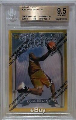 1996-97 Topps Finest GOLD Kobe Bryant RC #269 BGS 9.5 GEM MINT RARE Rookie