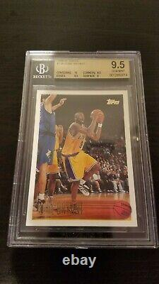 1996-97 Topps Kobe Bryant Rookie Card #138 BGS 9.5 GEM MINT Centering 10