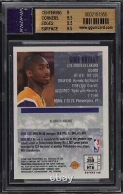 1996 Finest Gold Refractor Kobe Bryant ROOKIE RC #269 BGS 9.5 GEM MINT