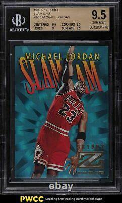 1996 Skybox Z-Force Slam Cam Michael Jordan #SC5 BGS 9.5 GEM MINT