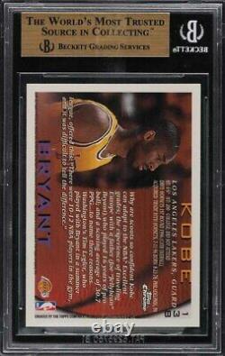 1996 Topps Chrome Kobe Bryant ROOKIE RC #138 BGS 9.5 GEM MINT