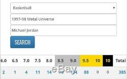 1997-98 Metal Universe Michael Jordan #23 Bgs 9.5 Pure Gem Mint Pop 1 Ebay 1/1