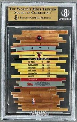 1997-98 Stadium Club Triumvirate #t1b Michael Jordan Bgs 9.5 Gem Mint Hb