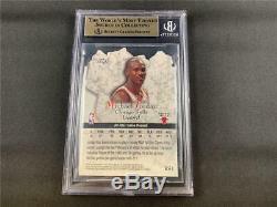 1997-98 Topps Michael Jordan #rs1 Rock Stars Insert Bgs Gem Mint Quad 9.5 Bulls