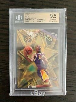1997-98 Ultra Stars Gold Kobe Bryant BGS 9.5 Gem Mint VERY RARE