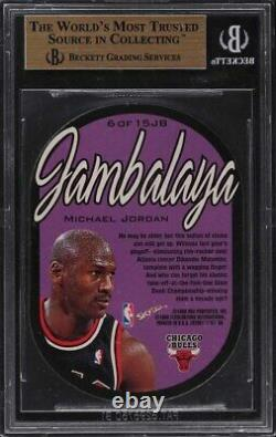 1997 Skybox E-X 2001 Jambalaya Die-Cut Michael Jordan #6 BGS 9.5 GEM MINT