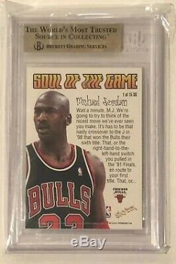 1998-99 Skybox Premium Soul Of The Game Michael Jordan Insert BGS 9.5 Gem Mint