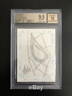 1998 Skybox Marvel Sketchagraph Stan Lee Sketch Autograph Card BGS 9.5 Gem Mint