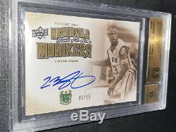 1/15 Autographed Memorable Monikers LeBron James UDA BGS Gem Mint 9.5 With 10 Auto
