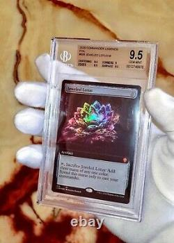 1st Jeweled Lotus Bgs 9.5 Gem Mint Ever! Psa 10extended Art Foil Mtg Magic