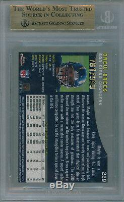 2001 Topps Chrome Drew Brees BGS 9.5 Gem Mint Rookie #781/999 9.5 9.5 10 9 Rare