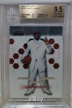 2002-03 Topps Finest Lebron James RC #178 BGS 9.5 GEM MINT LA Lakers Rookie