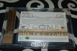 2002-03 Ud Glass @ Kobe Bryant @ Michael Jordan Bgs 9.5 Gem Mint Auto Jersey /25