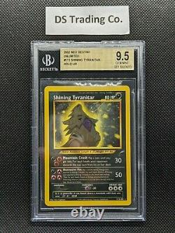 2002 Pokemon Neo Destiny Unlimited #113 Shining Tyranitar BGS 9.5 GEM MINT PSA