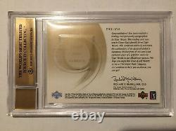 2002 sp game used Front 9 Fabric Tiger Woods Auto BGS 9.5 43/100. GEM MINT