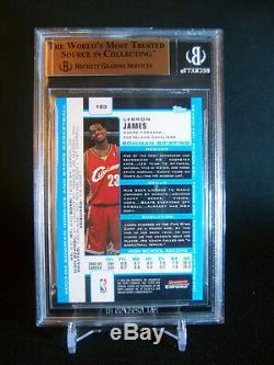 2003-04 Lebron James Bowman Chrome #123 Rc Rookie Cavaliers Bgs 9.5 Gem Mint