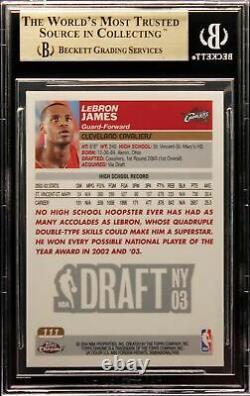 2003-04 Lebron James Topps Chrome Base RC Rookie #111 BGS 9.5 Gem Mint