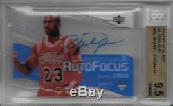 2003-04 Michael Jordan Upper Deck UD Glass Auto. BGS 9.5 Gem Mint with10 auto