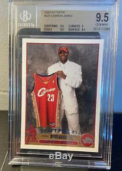 2003-04 Topps #221 LeBron James Cleveland Cavaliers RC Rookie BGS 9.5 GEM MINT