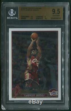 2003/04 Topps Chrome #111 LeBron James Rookie BGS 9.5 (GEM MINT)