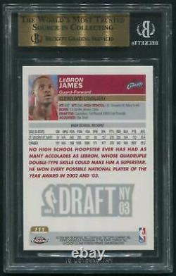 2003/04 Topps Chrome #111 LeBron James Rookie BGS 9.5 (GEM MINT) Quad 9.5