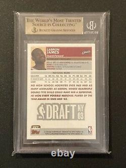 2003-04 Topps Lebron James BGS 9.5 Gem Mint #221 Rookie RC Lakers Cavs PSA 10
