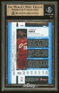 2003 Bowman Lebron James Rookie RC BGS 9.5 Gem Mint with10 sub