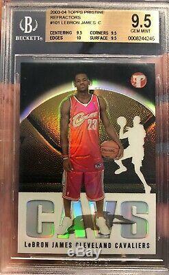 2003 Lebron James Rookie Topps Pristine Refractor #332/1999 Gem Mint 9.5 BGS 10