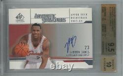 2003 SP Signature Edition LeBron James Rookie RC Auto #LJ BGS 9.5 10 GEM MINT