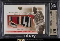 2003 Ultimate Collection Dual Michael Jordan PATCH /50 BGS 9.5 GEM MINT