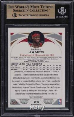 2004-05 Topps Chrome Black Refractor LeBron James /500 #23 BGS 9.5 GEM MINT