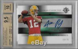 2005 Aaron Rodgers Ultimate Collection Auto RC- BGS 9.5 Gem Mint. #14/75