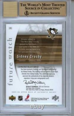 2005 SP Authentic #181 Sidney Crosby 241/999 RC Gem Mint BGS 9.5 10 Auto