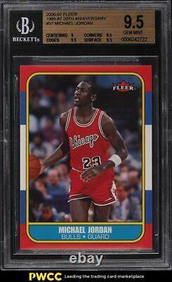 2006 Fleer'86 20th Anniversary Michael Jordan #57 BGS 9.5 GEM MINT