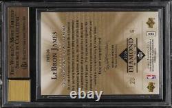 2006 Upper Deck Diamond Club LeBron James PATCH AUTO /110 #DC1 BGS 9.5 GEM MINT