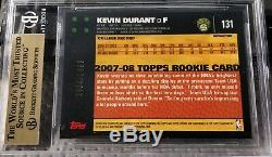 2007-08 Topps Chrome Kevin Durant RC Refractor BGS 9.5 Gem Mint #1334/1499